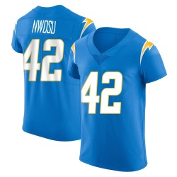 Elite Uchenna Nwosu Men's Los Angeles Chargers Blue Alternate Vapor Untouchable Jersey - Nike