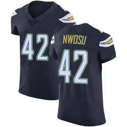 Elite Uchenna Nwosu Men's Los Angeles Chargers Navy Blue Team Color Vapor Untouchable Jersey