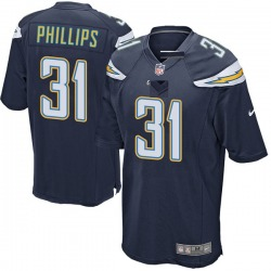 Game Adrian Phillips Men's Los Angeles Chargers Navy Team Color Jersey - Nike