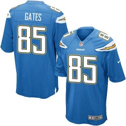 Game Antonio Gates Men's Los Angeles Chargers Blue Electric Alternate Jersey - Nike
