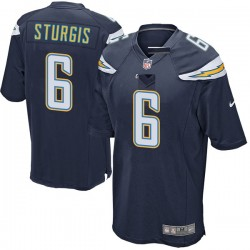 Game Caleb Sturgis Men's Los Angeles Chargers Navy Team Color Jersey - Nike