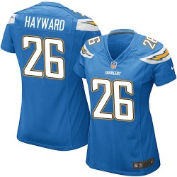 Game Casey Hayward Women's Los Angeles Chargers Blue Electric Alternate Jersey - Nike