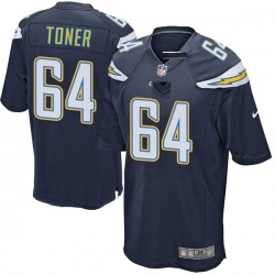 Game Cole Toner Men's Los Angeles Chargers Navy Team Color Jersey - Nike