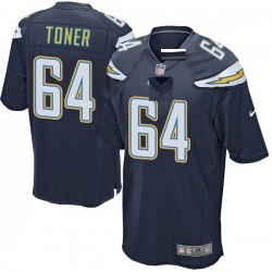 Game Cole Toner Youth Los Angeles Chargers Navy Team Color Jersey - Nike