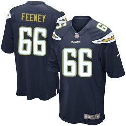 Game Dan Feeney Men's Los Angeles Chargers Navy Blue Team Color Jersey - Nike