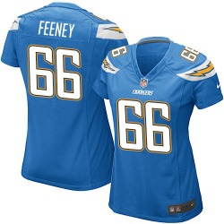 Game Dan Feeney Women's Los Angeles Chargers Blue Electric Alternate Jersey - Nike