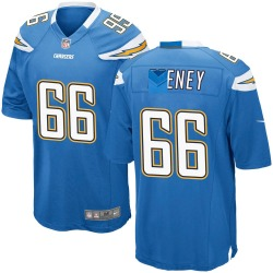 Game Dan Feeney Youth Los Angeles Chargers Blue Powder Alternate Jersey - Nike