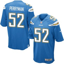 Game Denzel Perryman Men's Los Angeles Chargers Blue Electric Alternate Jersey - Nike