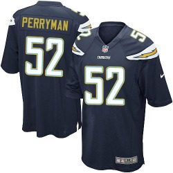 Game Denzel Perryman Men's Los Angeles Chargers Navy Blue Team Color Jersey - Nike