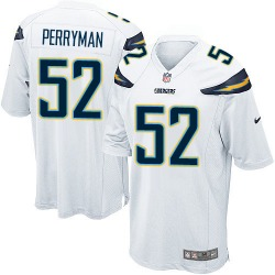 Game Denzel Perryman Men's Los Angeles Chargers White Jersey - Nike