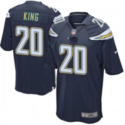 Game Desmond King Men's Los Angeles Chargers Navy Team Color Jersey - Nike