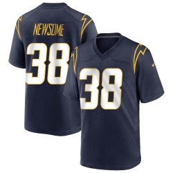 Game Detrez Newsome Men's Los Angeles Chargers Navy Team Color Jersey - Nike