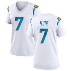 Game Doug Flutie Women's Los Angeles Chargers White Jersey - Nike
