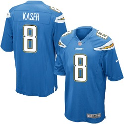 Game Drew Kaser Men's Los Angeles Chargers Blue Electric Alternate Jersey - Nike