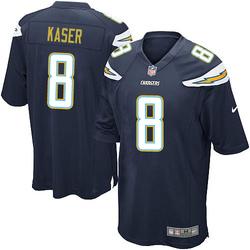 Game Drew Kaser Men's Los Angeles Chargers Navy Blue Team Color Jersey - Nike