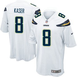 Game Drew Kaser Men's Los Angeles Chargers White Jersey - Nike