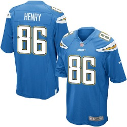 Game Hunter Henry Men's Los Angeles Chargers Blue Electric Alternate Jersey - Nike