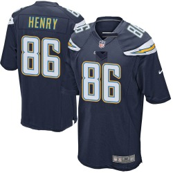 Game Hunter Henry Men's Los Angeles Chargers Navy Team Color Jersey - Nike