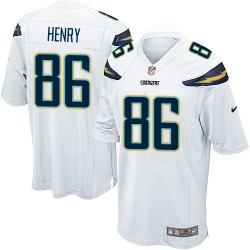 Game Hunter Henry Men's Los Angeles Chargers White Jersey - Nike