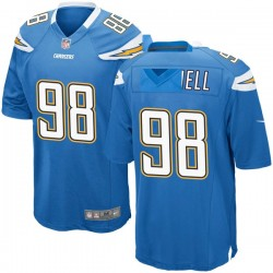 Game Isaac Rochell Men's Los Angeles Chargers Blue Powder Alternate Jersey - Nike