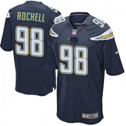 Game Isaac Rochell Men's Los Angeles Chargers Navy Team Color Jersey - Nike