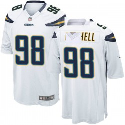 Game Isaac Rochell Men's Los Angeles Chargers White Jersey - Nike