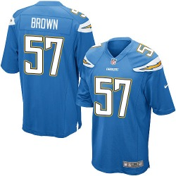 Game Jatavis Brown Men's Los Angeles Chargers Blue Electric Alternate Jersey - Nike
