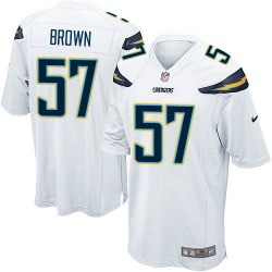 Game Jatavis Brown Men's Los Angeles Chargers White Jersey - Nike