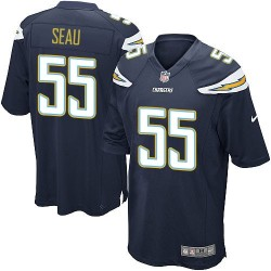 Game Junior Seau Men's Los Angeles Chargers Navy Blue Team Color Jersey - Nike