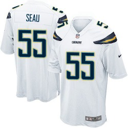 Game Junior Seau Men's Los Angeles Chargers White Jersey - Nike