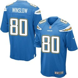 Game Kellen Winslow Men's Los Angeles Chargers Blue Electric Alternate Jersey - Nike