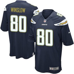 Game Kellen Winslow Men's Los Angeles Chargers Navy Blue Team Color Jersey - Nike