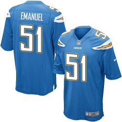 Game Kyle Emanuel Men's Los Angeles Chargers Blue Electric Alternate Jersey - Nike