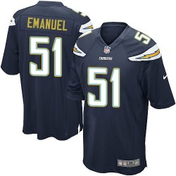 Game Kyle Emanuel Men's Los Angeles Chargers Navy Blue Team Color Jersey - Nike
