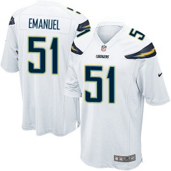 Game Kyle Emanuel Men's Los Angeles Chargers White Jersey - Nike