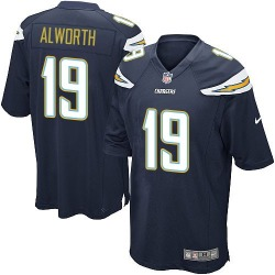 Game Lance Alworth Men's Los Angeles Chargers Navy Blue Team Color Jersey - Nike