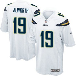 Game Lance Alworth Men's Los Angeles Chargers White Jersey - Nike