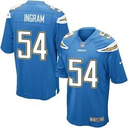 Game Melvin Ingram Men's Los Angeles Chargers Blue Electric Alternate Jersey - Nike