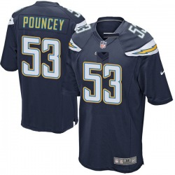 Game Mike Pouncey Men's Los Angeles Chargers Navy Team Color Jersey - Nike