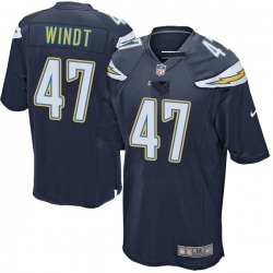 Game Mike Windt Men's Los Angeles Chargers Navy Team Color Jersey - Nike