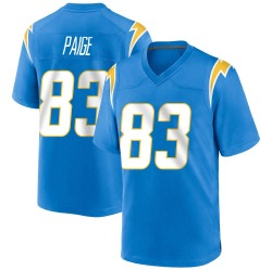 Game Mitchell Paige Men's Los Angeles Chargers Blue Powder Alternate Jersey - Nike