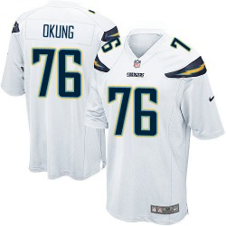 Game Russell Okung Men's Los Angeles Chargers White Jersey - Nike