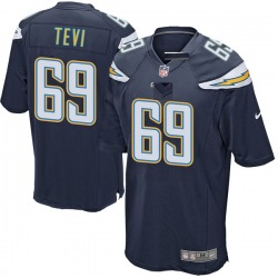 Game Sam Tevi Men's Los Angeles Chargers Navy Team Color Jersey - Nike
