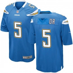 Game Tyrod Taylor Men's Los Angeles Chargers Blue Powder Alternate Jersey - Nike
