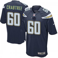 Game Zachary Crabtree Men's Los Angeles Chargers Navy Team Color Jersey - Nike