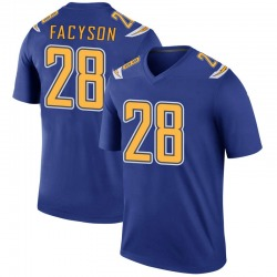 Legend Brandon Facyson Youth Los Angeles Chargers Royal Color Rush Jersey - Nike