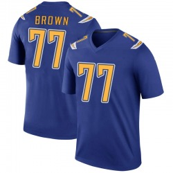 Legend Chris Brown Men's Los Angeles Chargers Royal Color Rush Jersey - Nike