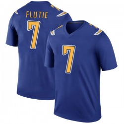 Legend Doug Flutie Men's Los Angeles Chargers Royal Color Rush Jersey