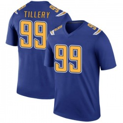Legend Jerry Tillery Men's Los Angeles Chargers Royal Color Rush Jersey - Nike