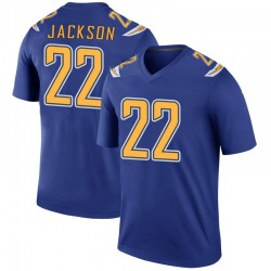 Legend Justin Jackson Men's Los Angeles Chargers Royal Color Rush Jersey - Nike
